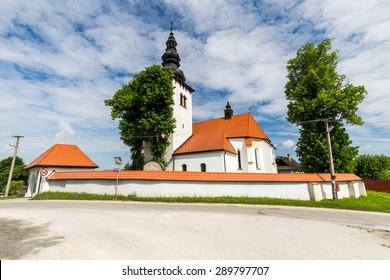 Church in the centre of the village Liptovske Sliace, Slovakia on June 3, 2015 - Shutterstock ID 289797707