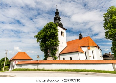 Church in the centre of the village Liptovske Sliace, Slovakia on June 3, 2015 - Shutterstock ID 289797710