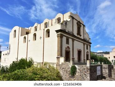 church chiesa dell Addorata immacolata on island Lipari,Aeolian islands,Italy