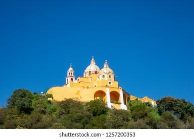 church in cholula puebla mexico