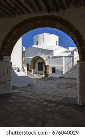 Church in Chora village on Skyros island in Greece.