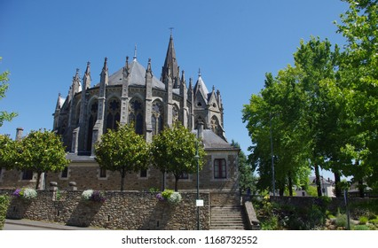 The church of the city of Orvault in Brittany