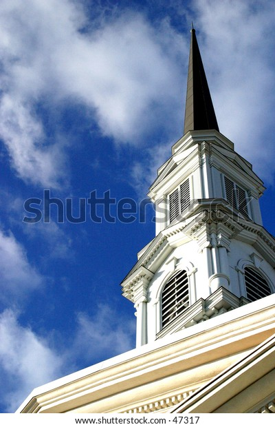 Church and Cloudy Sky