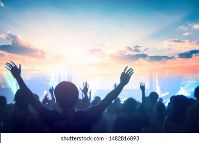 church concept: worship and praise