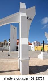 Church in Corralejo, Canary Island Fuerteventura, Spain