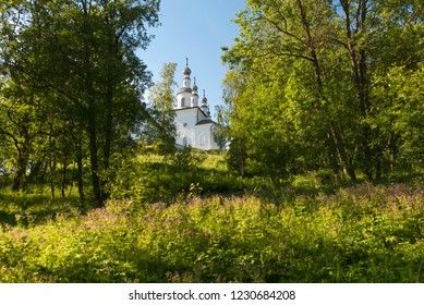 Church of the Crucifixion of Christ in the Golgotha-Crucifix skete at Mount Calvary on Anzersky Island, Solovki Islands, Arkhangelsk Region, Russia