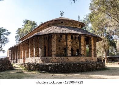 Church of Debre Berhan Selassie in Gondar, Ethiopia.