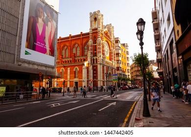 Church del Sagrado Corazon in Bilbao Spain. June 2019