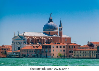 The Church del Santissimo Redentore or Most Holy Redeemer, view from Grand canal in Venice, Italy