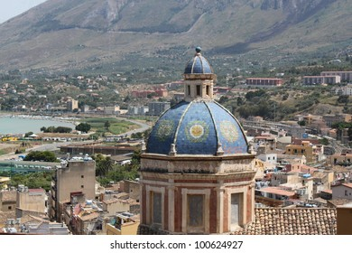 Church dome and city roof