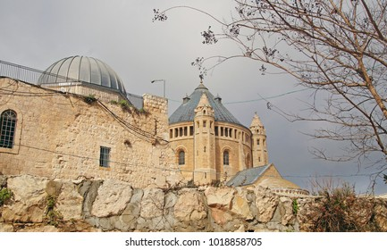 The Church of Dormition on Mount Zion where King David Tomb are placed