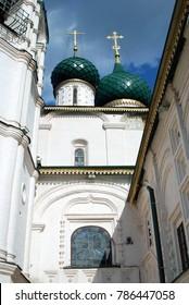 Church of Elijah the Prophet in Yaroslavl, Russia. Popular landmark. Color photo.