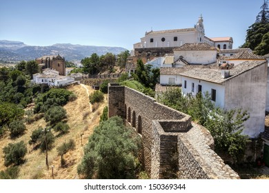 Church Espiritu Santo. Ronda. Province of Malaga, Andalusia, Spain.