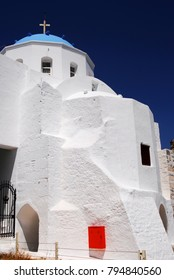 The church of Evangelismos inside the castle of Astypalaia, Astypalaia island, Dodecanese islands, Greece