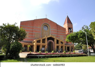Church exterior Cathedral Sacred Heart College. Church a religious ceremony.Chiang Mai, Thailand.