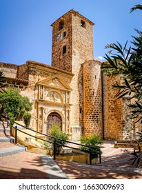 church facade located in a town of Albacete