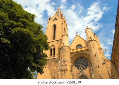 Church facade of Sant Jean de Malte in Aix-en-Provence