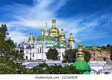 Church of famous Kiev Pechersk Lavra Monastery, Ukraine