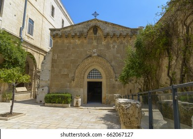 Church of the Flagellation, according to the Gospels on this place the Roman soldiers scourged Jesus Christ and put on him the crown of thorns and a purple Shroud