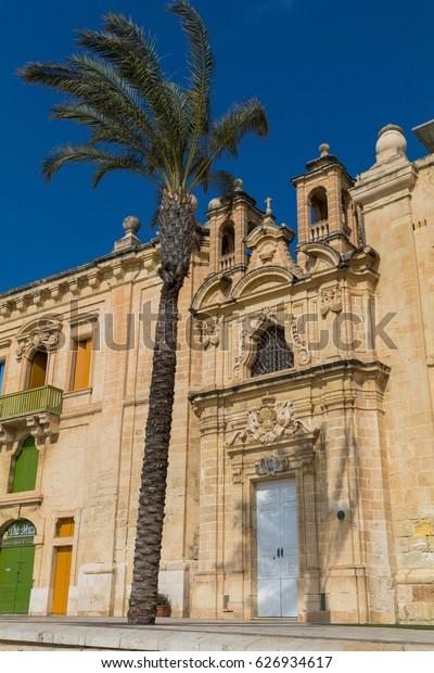 Church of the Flight into Egypt, Valletta Waterfront, Floriana, Valletta, Malta, March 2017