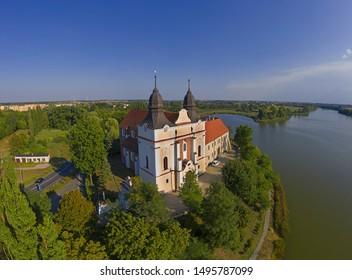 Church, former benedictine abbey in the village Mogilno, Poland.
