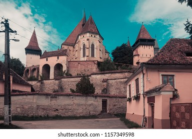 Church Fortification in Biertan is landmark of Transilvania in Romania.