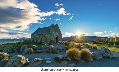 Church of the good Shepherd at lake Tekapo, South Island, Newzea