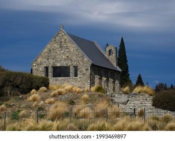 Church of the Good Shepherd - a lovely old stone church in Tekapo, New Zealand.