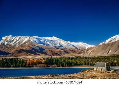 Church of Good Shepherd on the shore of Lake Tekapo, New Zealand South Island