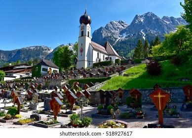 Church in Grainau near Garmisch-Partenkirchen, Germany