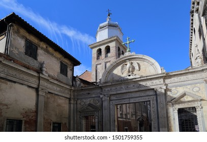 Church and historical buildings in Venice, Italy