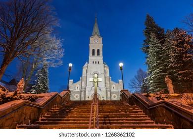 Church of the Holy Family in Zakopane. Zakopane, Lesser Poland, Poland.