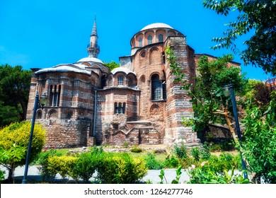 The Church of the Holy Saviour in Chora is a medieval Byzantine Greek Orthodox church preserved as the Chora Museum (14th century), Edirnekapi, Istanbul, Turkey. (Kariye Church)
