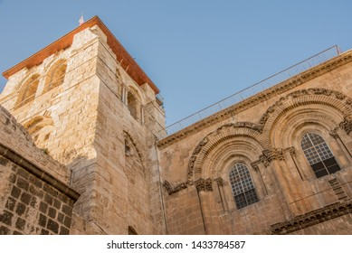 Church of the Holy Sepulchre view from the ground outside view