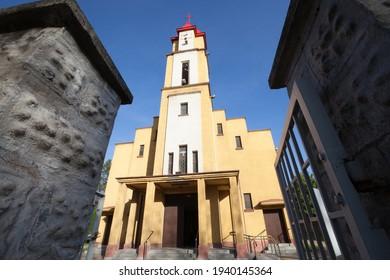Church Holy Spirit Parish in Czarny Las - Roman Catholic parish. - Shutterstock ID 1940145364