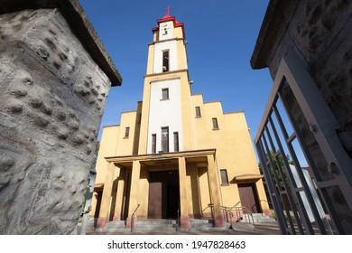Church Holy Spirit Parish in Czarny Las - Roman Catholic parish. - Shutterstock ID 1947828463