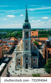 The Church Of The Holy Spirit In Torun, Poland. The view from the top