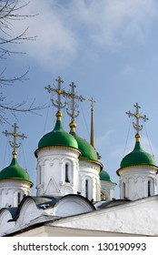 Church of the Holy Trinity in Listy (detail), Moscow, Russia - Shutterstock ID 130190993
