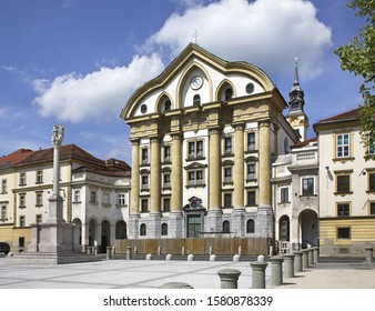 Church of Holy Trinity in Ljubljana. Slovenija