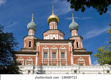 The church in honor Protection of the Virgin  the Novodevichy Convent. Russia, Moscow
