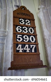 Church hymn sign