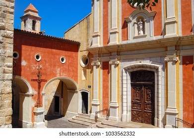 Church of the Immaculate Conception in the old part of Antibes - Cote d'Azur, France