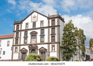 church inFunchal (in Portuguese Igreja do Colégio de Praça do Município de Funchal) Madeira island Portugal
