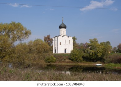 Church of the Intercession on the River Nerl built in the 12th century. Vladimir region, Russia