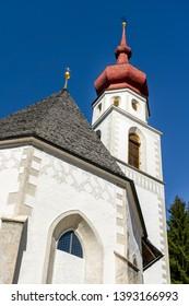 church in Kaltenbrunn,valley Kaunertal in Austria