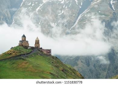 Church in Kazbegi mountains