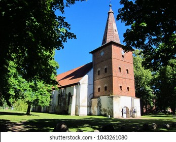 Church in Lithuania country. Building in Europe.