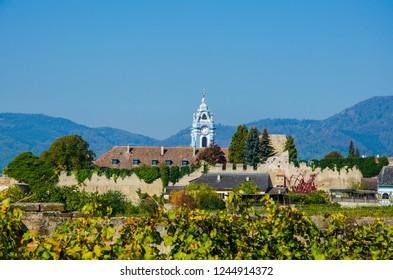 Church in Lower Austria in Wachau Valley beautiful landscape
