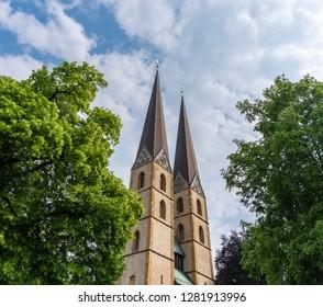 The church Neustädter Marienkirche in city Bielefeld, Germany .