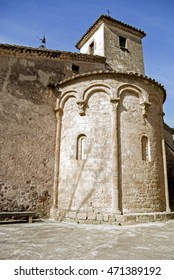 Church in the medieval village of Mura.Catalonia.Spain